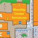 campus map with worship center